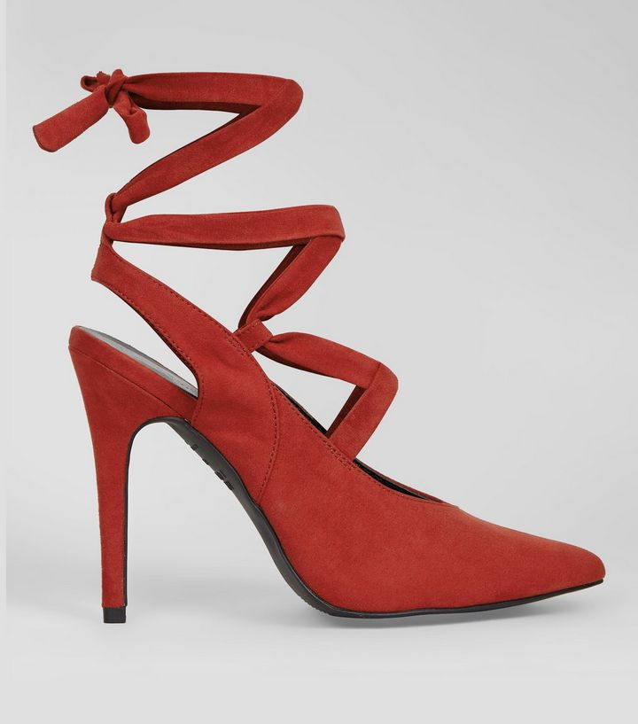red-suedette-lace-up-pointed-heels