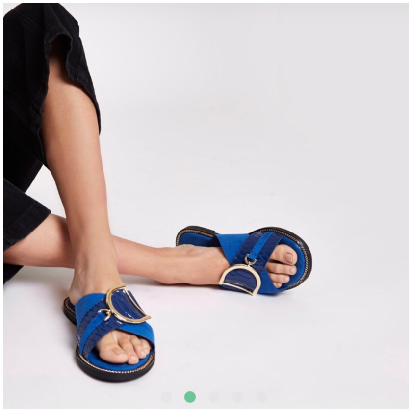 a4087f96703 Blue mules but i would call them sandals they wore €51.00 now €20.00 click  here to buy